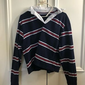 Brandy Melville striped polo/rugby shirt
